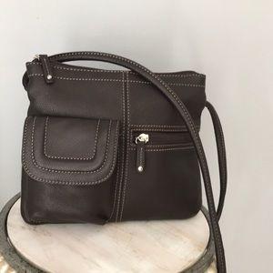 Leather shoulder bag/purse
